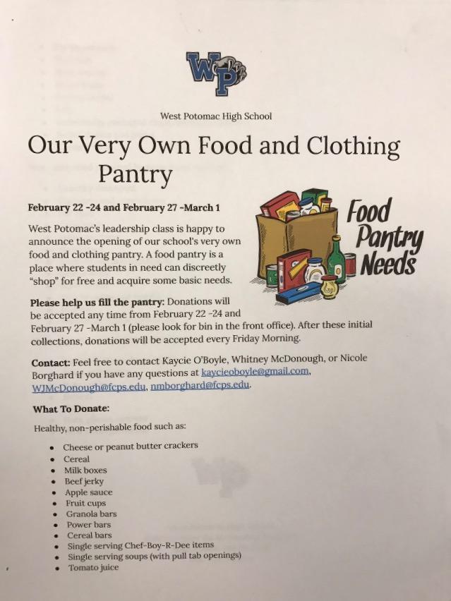 Juniors Start Food Pantry Program to Help Students in Need