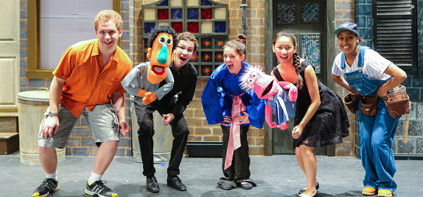Cast members of Avenue Q School Edition - Photo by Laura Marshall