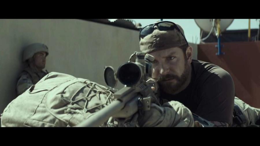Bradley Cooper stars as Navy SEAL Chris Kyle in the film American Sniper.