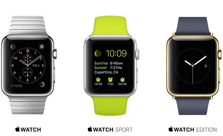 The+three+editions+of+the+Apple+watch