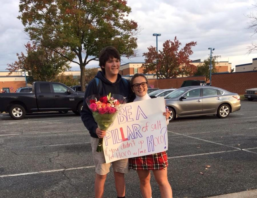 Two Juniors observe a traditional WPHS Homecoming proposal