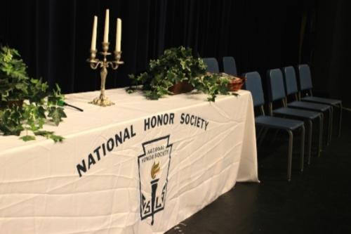 The National Honor Society inducts new students yearly for membership who have significantly achieved in academics and community service.