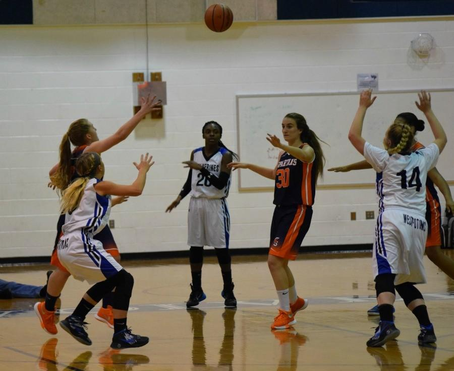Girls varsity loses 45-30 against West Springfield.