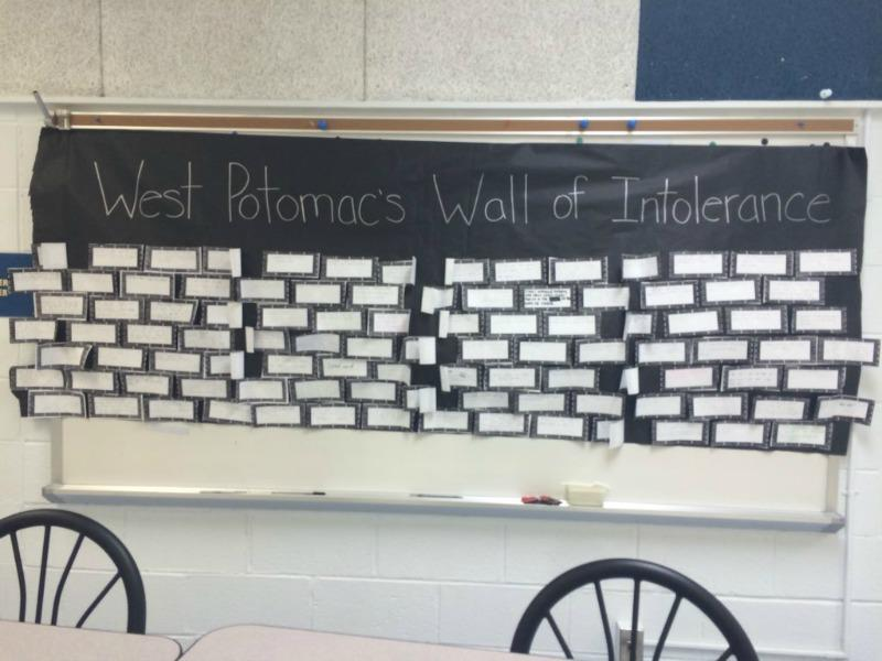 Students+Tear+Down+%22Wall+of+Tolerance%22+in+Support+of+International+Day+of+Tolerance