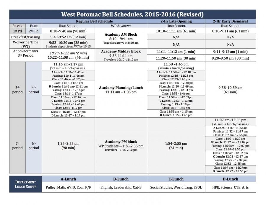 West+Potomac+Implements+New+Bell+Schedule