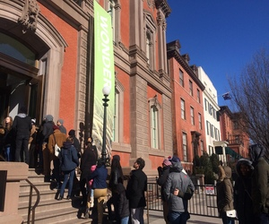 Vistors line up to visit the Renwick Gallery in D.C.