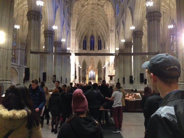 AP Euro students visit St. Patrick's Cathedral.