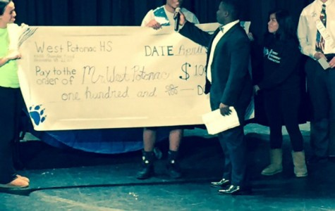Senior Darrel Mensah received his crown, sash and a check for $100 as 2016's Mr. West Potomac.