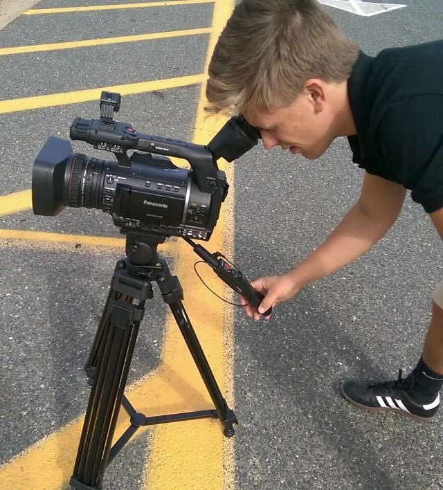 Kosmacki in his element while shooting some footage.
