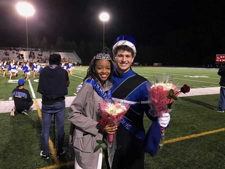 Homecoming+Court+Celebrates+Wins