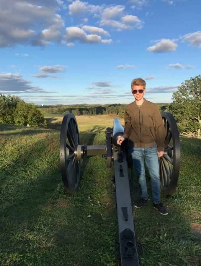 (Courtesy Micha Streuli) Streuli visiting Gettysburg.