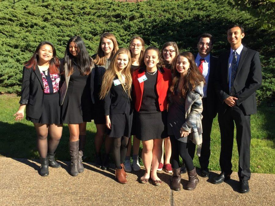 MUN members at WMHSMUN, which was held at the College of William and Mary.