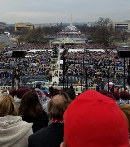 The view from our seats for the inauguration