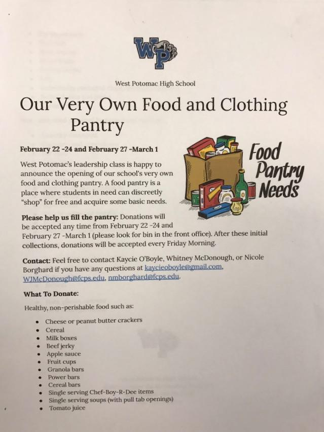 Juniors Start Food Pantry Program to Help Students in Need