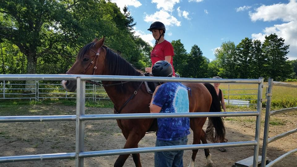 Horses+at+%22A+Place+to+Be%22%2C+a+nonprofit+organization+where+senior+Juliette+Burcham+%28on+horse%29+will+be+SHOUTing%2C+provides+stress-relief+to+children+in+foster+care.