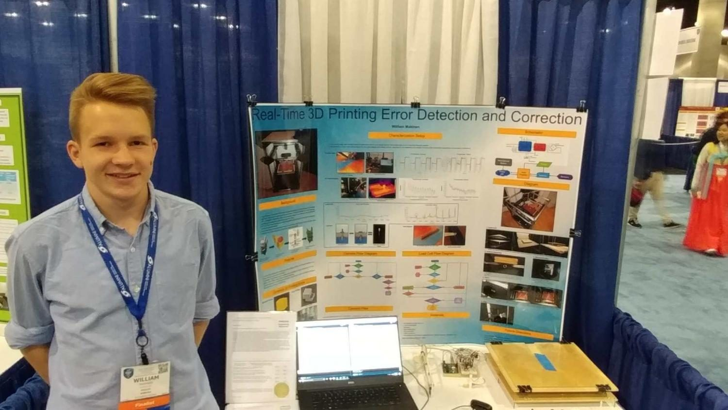 Will+Makinen+with+his+science+fair+poster