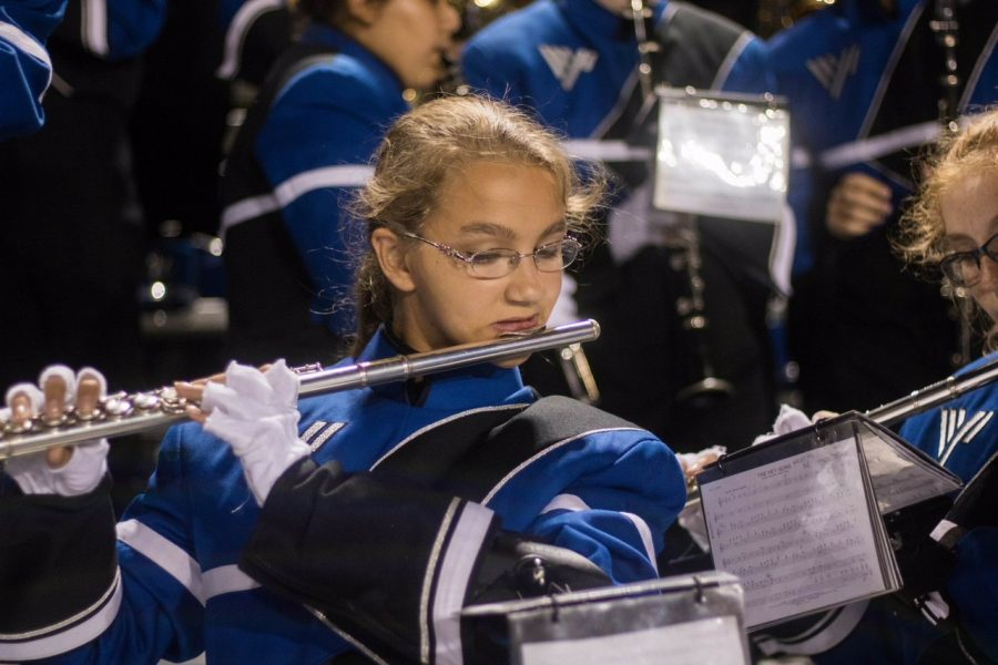 Freshmen Face First Marching Band Competition