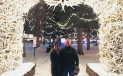 Mrs.Livelli in Jackson Hole, Wyoming with a close friend. This picture shows them smiling in the bright, snowy cold!