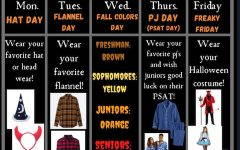 SGA's Spirit Week flyer
