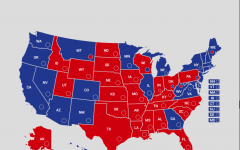 Map shows the US Senate composition for the first two years of Joe Biden's presidency. (Map made with yapms.com)