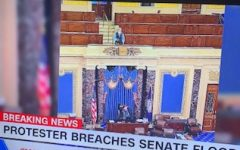 News seen after school on CNN of inside the Capitol building. Photo credit to Ruth Dean