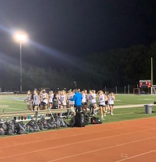 Varsity Girls Lacrosse post win 4/26. The field that Sherrer recalls having memories playing on and wanting to graduate on it.